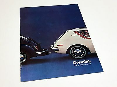 1970 1/2 American Motors AMC Gremlin Volkswagen Beetle Launch Preview Brochure