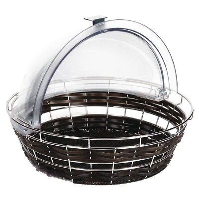 APS Polyratten Basket with Frame Round Food Buffet Display Kitchen Serving
