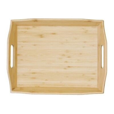 Olympia Bamboo Room Service Tray Rectangular Serving Platter Kitchen Tableware