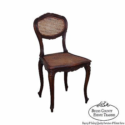 Theodore Alexander French Louis XV Style Carved Cane Side Chair
