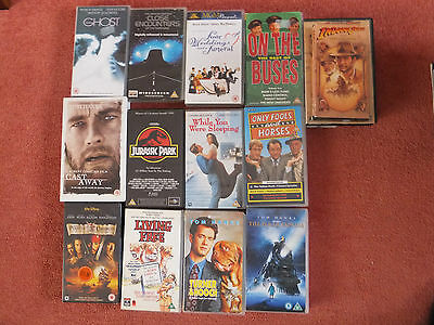 JOBLOT 14 x VHS Blockbuster and TV favourite tapes