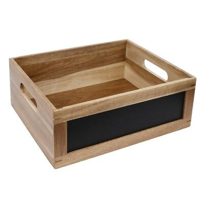 Olympia Display Crate With Chalkboard Side 1/2 Gastronorm Wood Kitchenware