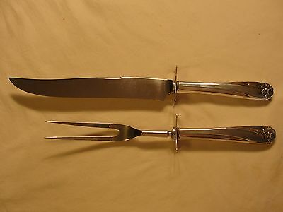 Nice Vintage  Rogers Daffodil Carving Set Silver Plate  Flatware  Lot *19