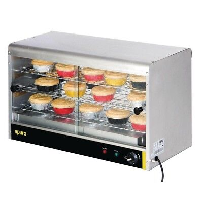Apuro Pie Cabinet - 60 Pies Food Warmer Stainless Steel Electric Warming Hot