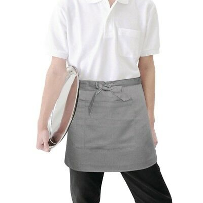 Whites Chefs Apparel Short Bistro Apron Charcoal Chef Kitchen Catering Cooking