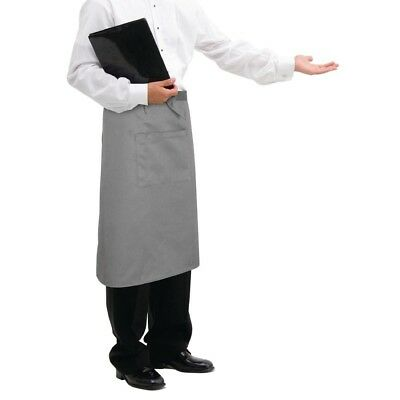 Whites Chefs Apparel Regular Bistro Apron Charcoal Catering Restaurant Serving