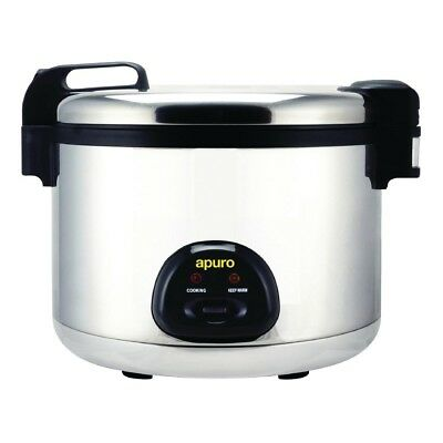 Apuro Large Rice Cooker Stainless Steel Silver Colour 2.85kW