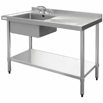 Vogue Stainless Steel Single Bowl Sink RH Drainer 1000mm Kitchen Furniture