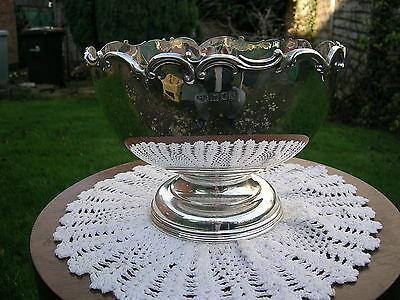 Beautiful English Hallmarked Solid Silver Rose Bowl Art Nouveau G&S Co Ltd 1913
