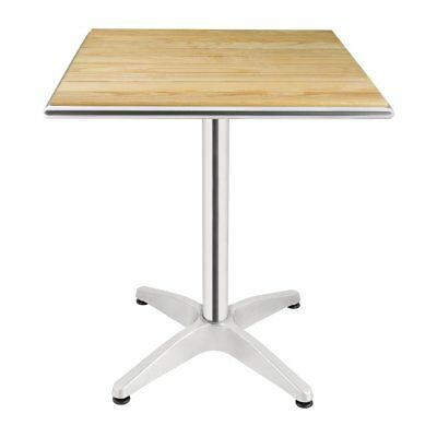 Bolero Ash Top Table Square 600mm Restaurant Cafe Pubs Bars Outdoor Furniture