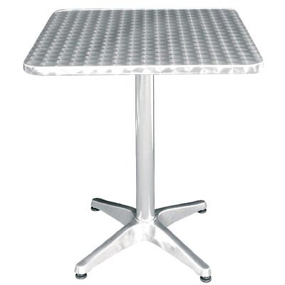 Bolero Square Bistro Cafe Table Stainless Steel 600mm Restaurants Aluminum