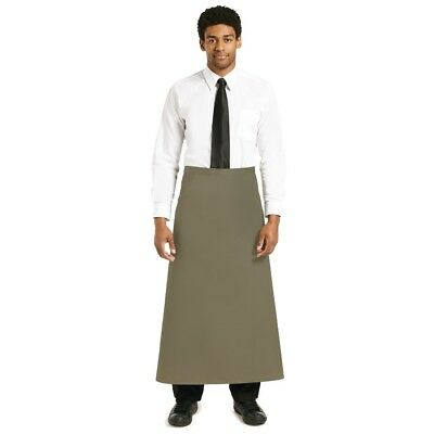 Whites Chefs Apparel Long Bistro Apron Olive Chef Kitchen Catering Cooking
