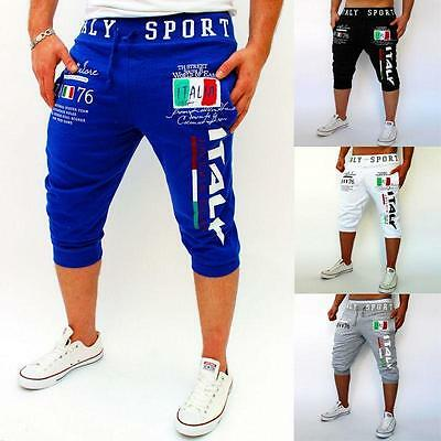 NEW Men's Cotton Shorts Pants Gym Trousers Sport Jogging Trousers Casual
