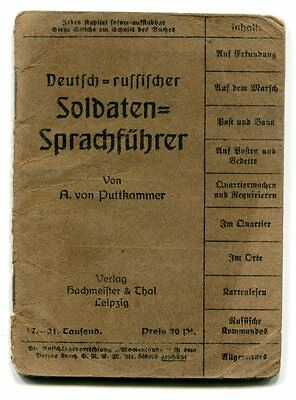 Kaiser Germany WWI German-Russian Pocket Dictionary for Front Soldiers in RUSSIA