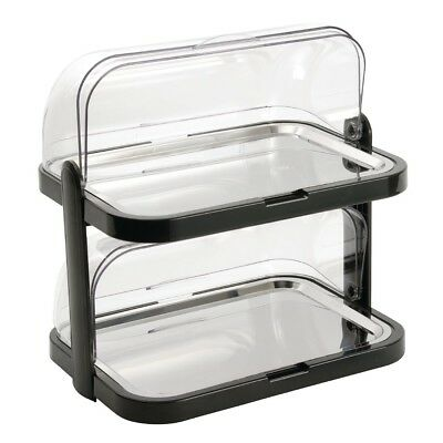 APS Double Decker Roll Top Cool Plate Stainless Steel Cold Server