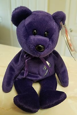 """Ty Beanie Baby Princess Diana 1997 """"481"""" Stamped Pe Pellets"""