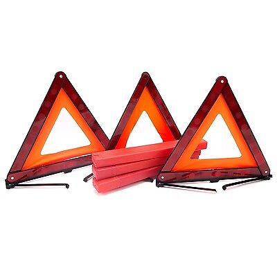 Car Triple Triangle Emergency Safty Warning Reflector Safety Sign 3-Pack .. NEW