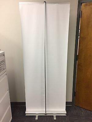 Pull Up Retractable Banner Stand Hardware Display Convention Trade Booth 32 X 82