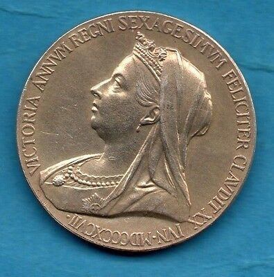 1897 Queen Victoria Diamond Jubilee Silver Medal / Medallion. Royal Mint.
