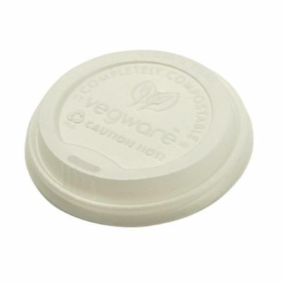 Pack of 1000 Vegware Compostable Hot Cup Lids 350ml And 455ml Plant Based