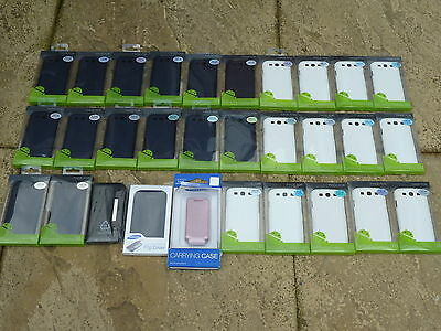 JOB LOT 30 SAMSUNG MOBILE PHONE PROTECTIVE CASES BRAND NEW Galaxy S3 White Blue
