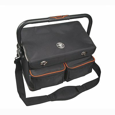 Klein Tools 55432 Tradesman Pro Organizer 17-Inch Tool Tote with Cover