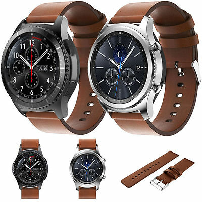 Samsung galaxy gear s3 classic/frontier leather watch band strap