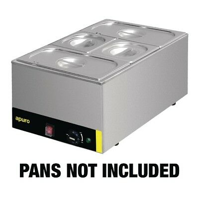 Apuro Bain Marie Without Pans Stainless Steel Kitchen Food Warmer Wet Heat