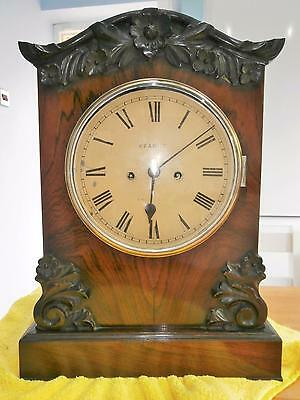 Double Fusee Rosewood Bracket Clock Eight Day striking Clock in G.W.O.