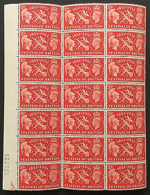 GB. 1951. 2½d. FESTIVAL OF BRITAIN. CONSTANT FLAWS. MNH.