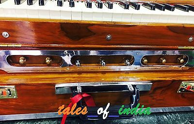 Professional Harmonium~3 1/2 Octave~Double Reed~Teak Wood~42 Keys~8 Stopper