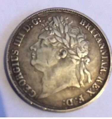 Copy Rare 1822 George IIII Crown British Coin Silver Plated Collectors Britannia