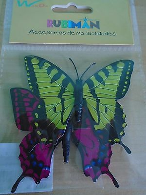 Pack of 2 Large Pretty Coloured Butterfly's-Craft Work.Embellishment.12 Choices