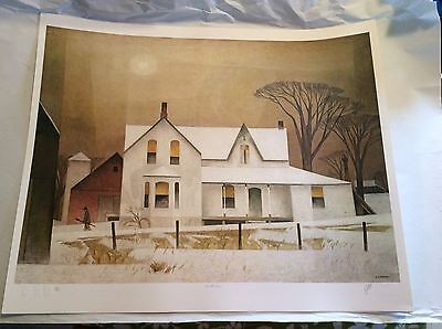 "A.J. CASSON ""WINTER SUN"" SIGNED PRINT LIMITED EDITION Group of Seven COA #230"