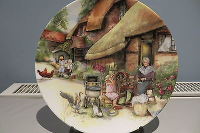 Royal Doulton Plate 'the Spinner' From The Old Country Crafts Series 1990