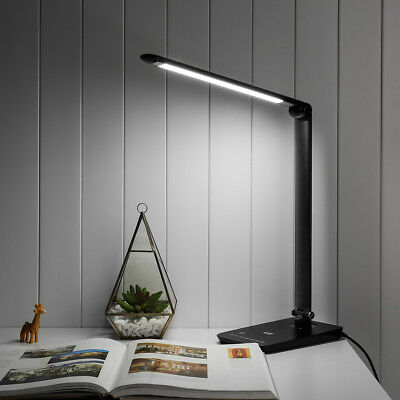 LE black 8W Dimmable LED Desk Lamp Touch Sensitive,daylight white 6000K light