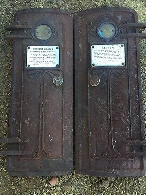 Antique Edwin Ruud Pair of doors Water Heater 1904