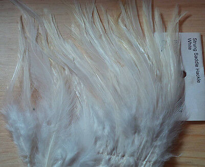 Strung Saddle Hackle (White) 5 gram bag