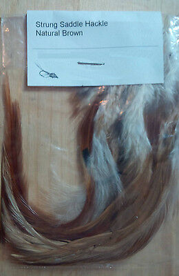Strung Saddle Hackle (Natural Brown) 5 gram bag