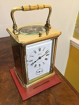 Large Antique Dent Fine Quality Repeater Alarm Carriage Clock
