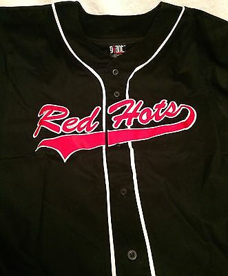 """Red Hot Chili Peppers """"red Hots"""" Rare U.s. Promo Only Baseball Jersey!!!"""