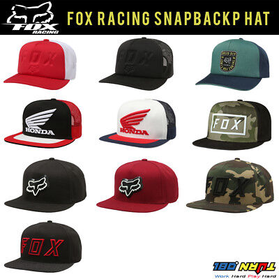 separation shoes 2fdb1 5562f FOX Racing Men s SNAPBACK Hat Black CAP CAMO Skate Sports Streetwear HONDA  MOTOX
