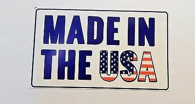 MADE IN THE U.S.A. Sticker Permanent 3x5 Auction Free Shipping 99 Cents .99 Cent