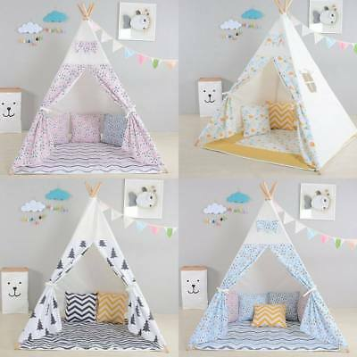 Childrens Kids Wigwam Teepee Play Tent - Canvass - Various colours