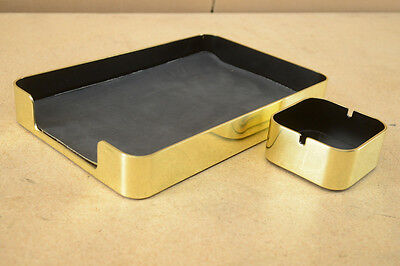 Radius One Mirror Brass Single Letter Tray & Ash Tray by Smith Metal Arts