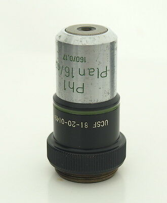 Zeiss Plan 16/0.35 Ph1 16X Phase Contrast Microscope Objective