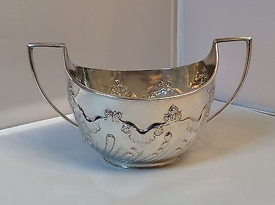 Stunning Large Twin Handle Victorian Solid Silver Bowl, Sheffield C 1900