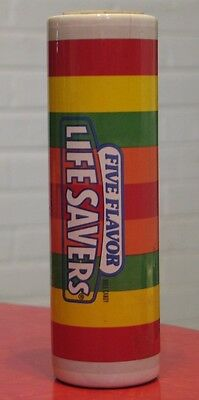 """Vintage LIFE SAVERS Roll Candy Bank 7 3/4"""" Tall Ceramic"""