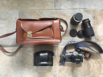 Olympus OM10 35mm Film Camera Bundle Case, Carry Case, 28-85mm & 80-200mm Lenses