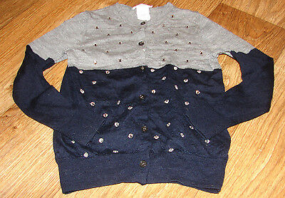 Crewcuts Girls Size 6/7 Adorable Sequin Sweater Black And Gray